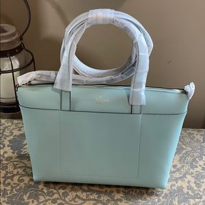 Kate Spade Patrice satchel in spring meadow / mint
